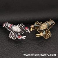 Best Brilliant Colorful Crystal Rock Style Holloween Accessory Lobster Ring wholesale