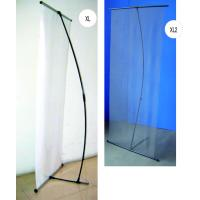 Cheap High Resolution Vertical Adjustable Banner Stand For Trade Shows Light Weight for sale