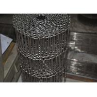 Best Food Processing Flat Wire Mesh Conveyor Belt Smooth Surface , Alkali Resistant wholesale