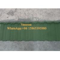 Buy cheap 5 Wave Shingle Tile size 1170*420mm Thickness JC108 Forest Green Wind Resistance from wholesalers