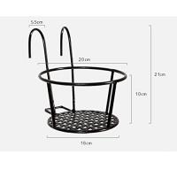 Cheap Round Metal Wire Balcony Planting Hanging Baskets / Hanging Pots For Plants for sale