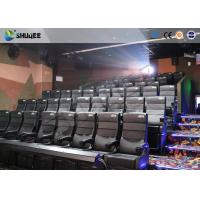 Best Amusement Park 4D Movie Theater With Electric System / 4D Cinema Chairs wholesale