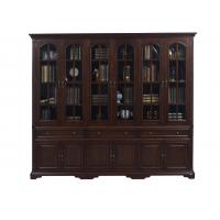 Best Home Office Study room furniture American style Big Bookcase Cabinet with Display chest can L shape for corner wall case wholesale