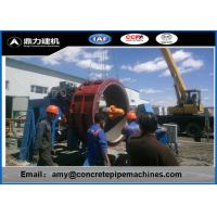 Customized Diameter Hume Pipe Making Machine 6-10/Hour Production Capacity