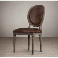 Cheap Wooden Chairs For Sale: Details Of Vintage French Wooden Round Back Leather Dining