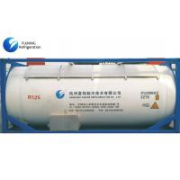 R125 Air Conditioning Refrigerant Gas in Bulk ISO Tank , Pentafluoroethane