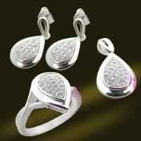 Best New Fashion Heart Solid Sterling Silver Micro Pave Setting Jewelry (RSA5370) wholesale