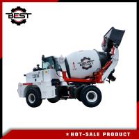 China 1.5 Cbm Mobile Mixer Truck Water Implement Automatic , Reverse Rotation Mobile Concrete Mixer on sale