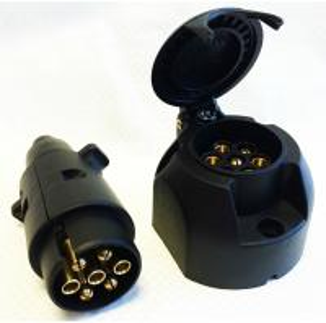 Best Custom Plastic 7 Pin Towing Socket , Towbar Electric Socket Waterproof wholesale