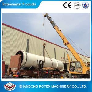 Best 11 kw Sawdust Rotating Drum Dryer Machine 12 m Length 2.2 m Width wholesale