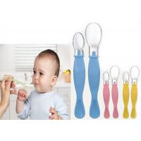 Best Soft BPA Free Silicone Baby Feeding Spoons Double Ended Serving wholesale