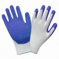 Best Knitted shell latex -coated safety gloves with crinkle finish wholesale