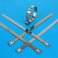 Best 304 or 316 Stainless Steel Cable Ties Heavy Duty Anti-Corrosion Long Service Life wholesale