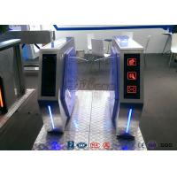 Cheap Fast Lane Turnstile Barrier Gate Flap Barrier With Anti - Reversing Passing for sale