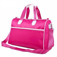 Buy cheap Pink Custom Duffle Bags with Adjustable Shoulder Strap , Collapsible Travel Bag from wholesalers