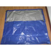 Best blue/white canvas curtain with rope and grommets form Haicheng in FeiCheng wholesale