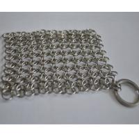 Best Round Stainless Steel Ring Mesh / Chainmail Scrubber For Cleaning Kitchenware wholesale