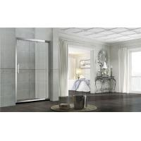 China 8MM /10MM Double Sliding Glass Shower Doors Stainless Steel Square Handle For Home on sale