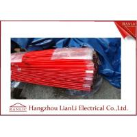 Cheap Steel PVC Coated Electrical Conduit Pipe C/W Coupling & Plastic Cap 3.05 Meters for sale