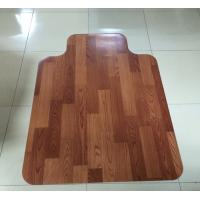Details of custom rolling 45 x 53 wood floor chair mat for for Wood floor mat