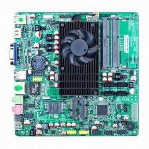 Best Mini-ITX Industrial Motherboard, On-board Dual Core CPU AMD APU-E450 with 2 COM HDMI + LVDS + VGA wholesale