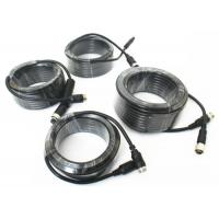 Best 4 Pin Vehicle Monitor Aviation Cable , Video / Audio Cctv Camera Cable wholesale