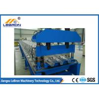 Best High Speed Floor Deck Roll Forming Machine No.45 Steel Coated With Chromed Treatment wholesale