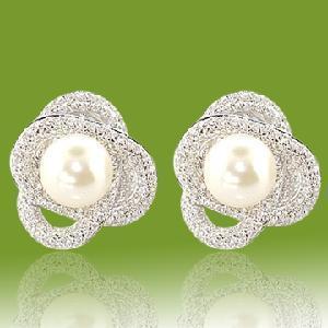Best Silver Pearl Stud Earring (ESW1161) wholesale
