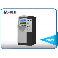 China Indoor freestand self ordering kiosk with thermal printer for visitor on sale
