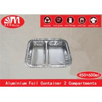 China Disposable Aluminium Foil Container Two Compartments 1050ml volume For Foods packing on sale