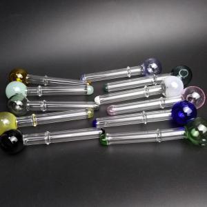 Best Small Borosilicate Glass Smoking Pipe Pyrex Oil Burner Round Shape wholesale