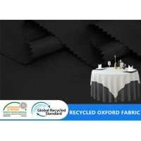 China Polyester Plain 300D Oxford Recycled PET Fabric Tent Tablecloth Bag Fabric on sale