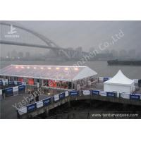 Quality Anodized Aluminum Framed High Peak Tents , High Peak Marquees Clear Pvc Window wholesale