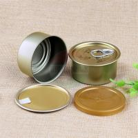 Best FDA Empty Tin Cans / Pop Top Easy Open Canned Fishery Ring Pull Metal Tin Food Cans wholesale