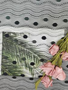 China Linear All Over Spot Polyester Lace Trim Black Tulle Mesh on sale