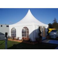 Best White 5x5m High Peak Pagoda Canopy Tent Customized Commercial Outdoor Marquee Tent For Trade Show wholesale