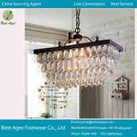 Best GLASS CRYSTAL CHANDELIER PENDANT 9 LIGHT Ceiling Lamp Metal Modern Living ROUND wholesale