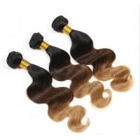 Best Stock Black / Yellow Ombre Virgin Hair Weave Body Wave for Women wholesale