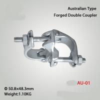Buy cheap Drop Forged Fixed Coupler Scaffolding Double Coupler Australian Type from wholesalers