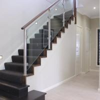 Cheap Factory Price Customized Design Stainless Steel Handrail Indoor Tempered Glass for sale