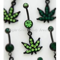 China Anodized Belly Piercing Rings For Female Peridot , surgical steel belly rings on sale