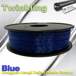 Best Blue Color Flexible 3D Printer Filament 1.75 3.0mm Twinkling Filament 200°C - 230°C wholesale
