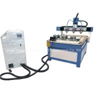 Best 3 Heads 3 Rotary Axis Wood Metal Stone CNC Engraving Cutting Machine wholesale