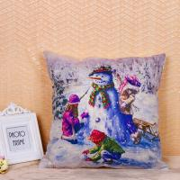Buy cheap Fancy Snowman Pillow Cushion Covers Recycled Cotton Linen Material 45 * 45 Cm from wholesalers