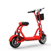 Best 10 Inch Two Wheel Shock Absorption Electric Folding Mobility Scooter With Phone Holder wholesale