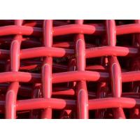 China Red Woven Pvc CoatedHigh Carbon Wire Mesh For Mining And Vibrating Screen Machine on sale
