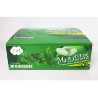 Best 8g Strong Mint Flavor Compressed Candy Packed In Plastic Round Box wholesale
