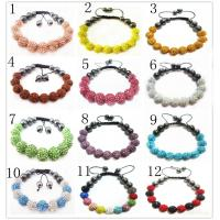 Best Customized Colorful 10mm Crystal Shamballa Beaded Bracelets For Women wholesale