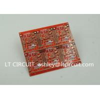Best 3'' U Gold Plating Multilayer PCB FR4 Printed Circuit Board Red Solder Mask wholesale