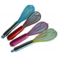 Best Europe standard food grade silicone manual egg whisk wholesale